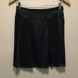 CHANEL black Silk Skirt size 34